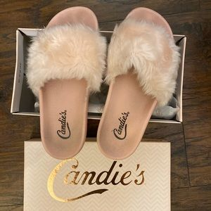 Candie's Fur Pink Slippers